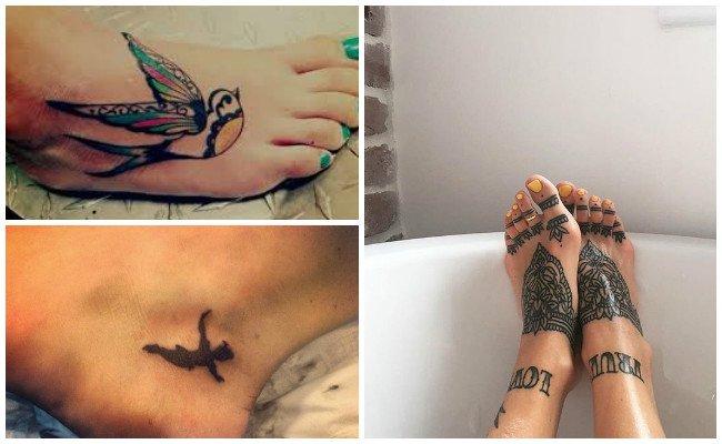 Ver tatuajes en el pie