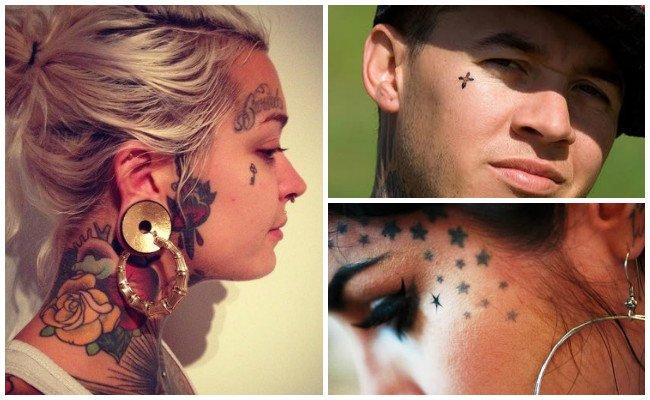Ver tatuajes en la cara