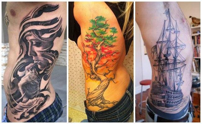 Ver tatuajes en las costillas