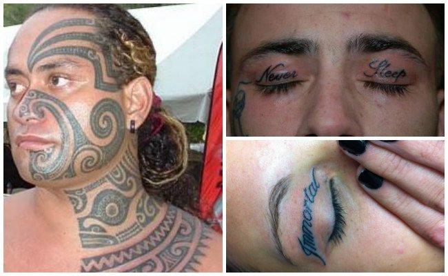 Ver tatuajes en los ojos